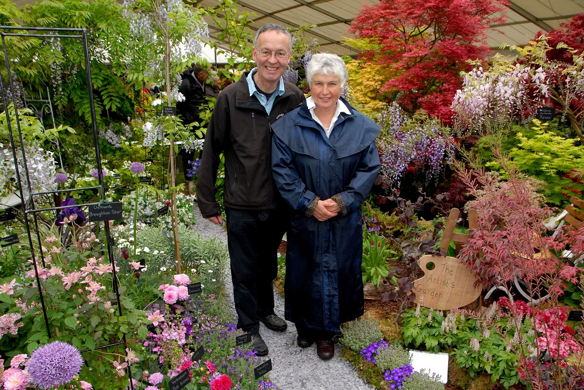 WINNER: Rollin and Carol Nicholls in teh Artist's Garden at the