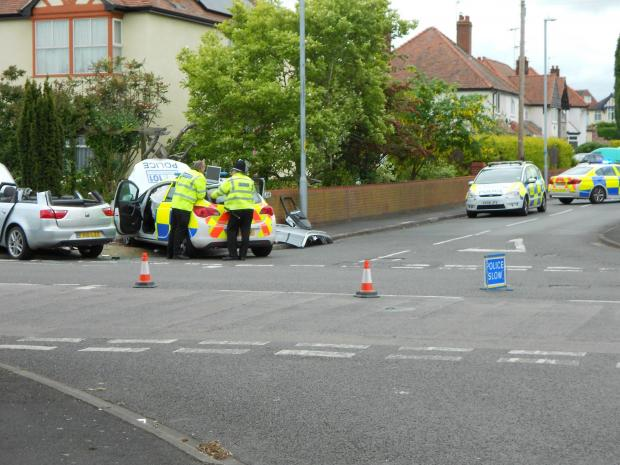 The Ombersley Road in Worcester is closed after a crash