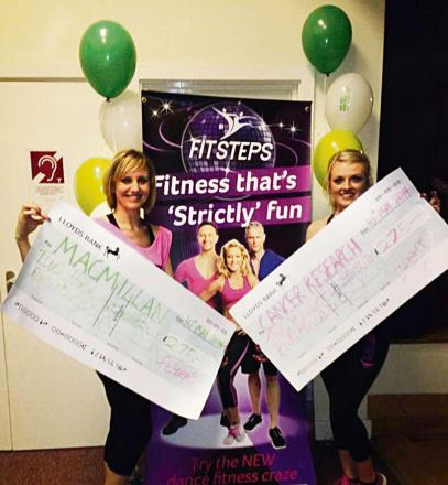STRIKE A POSE: FitStep dancers Sarah Clarke and Elise Dodd led the dancing during the charity event (s)