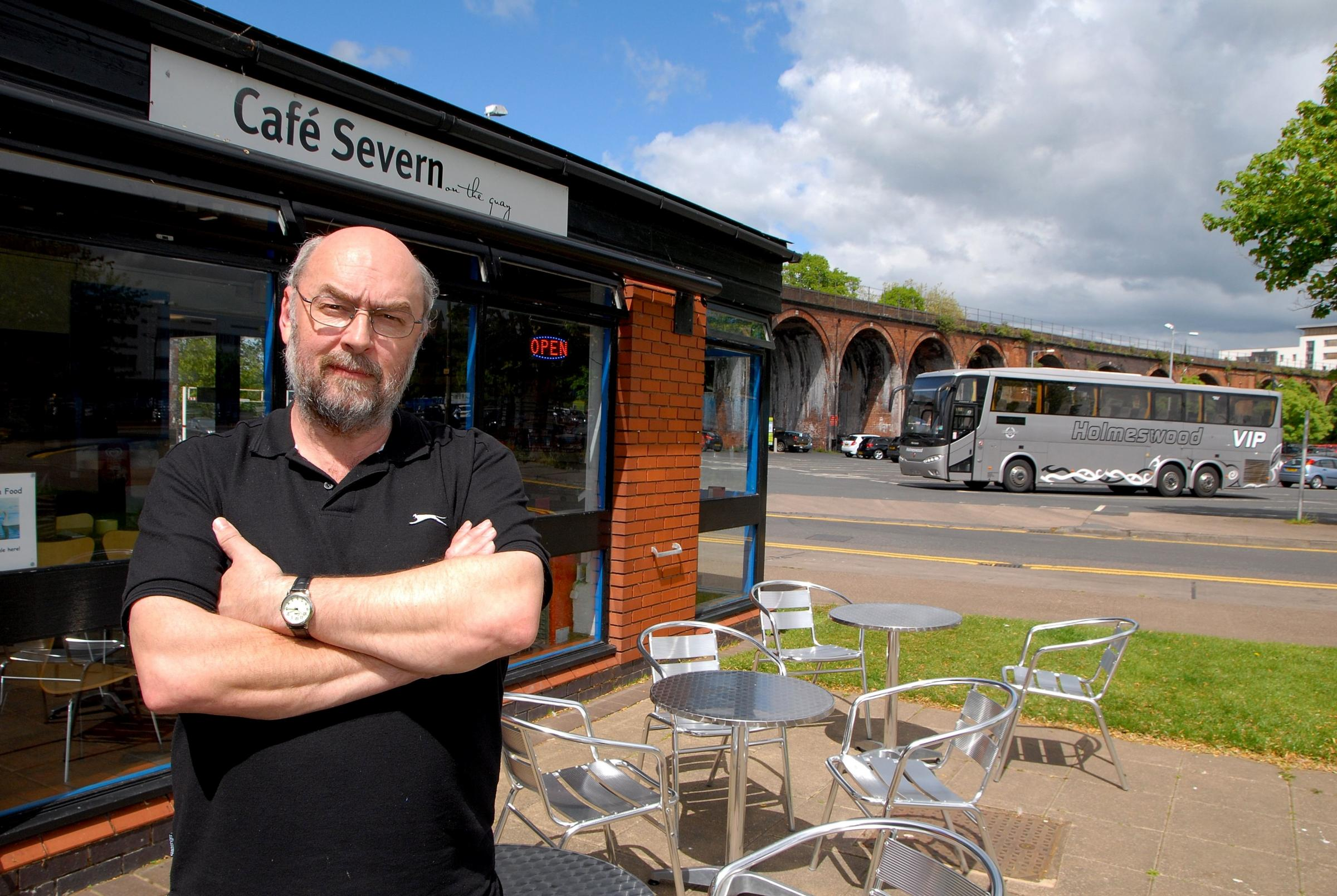 Chris Wise, who runs Cafe Severn on the Quay