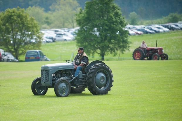 Worcester News: A vintage tractor rally took place at the country fair. Picture by Rachel Hibberd.