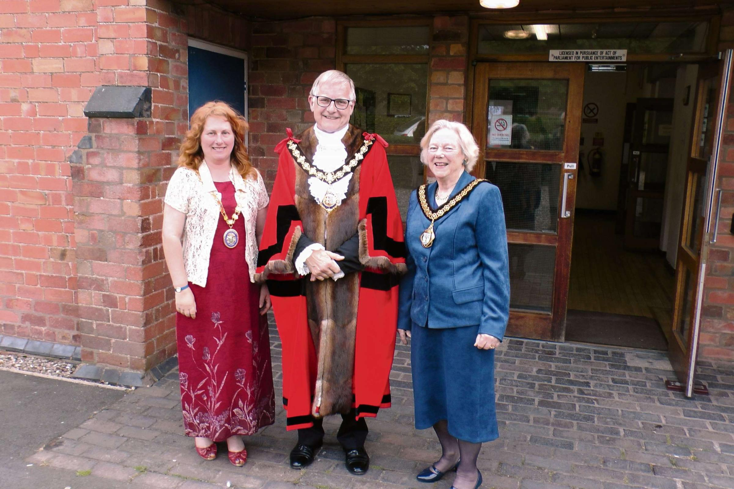 Councillor Pam Davey, far left, the new chairman of Worcestershire County Council.
