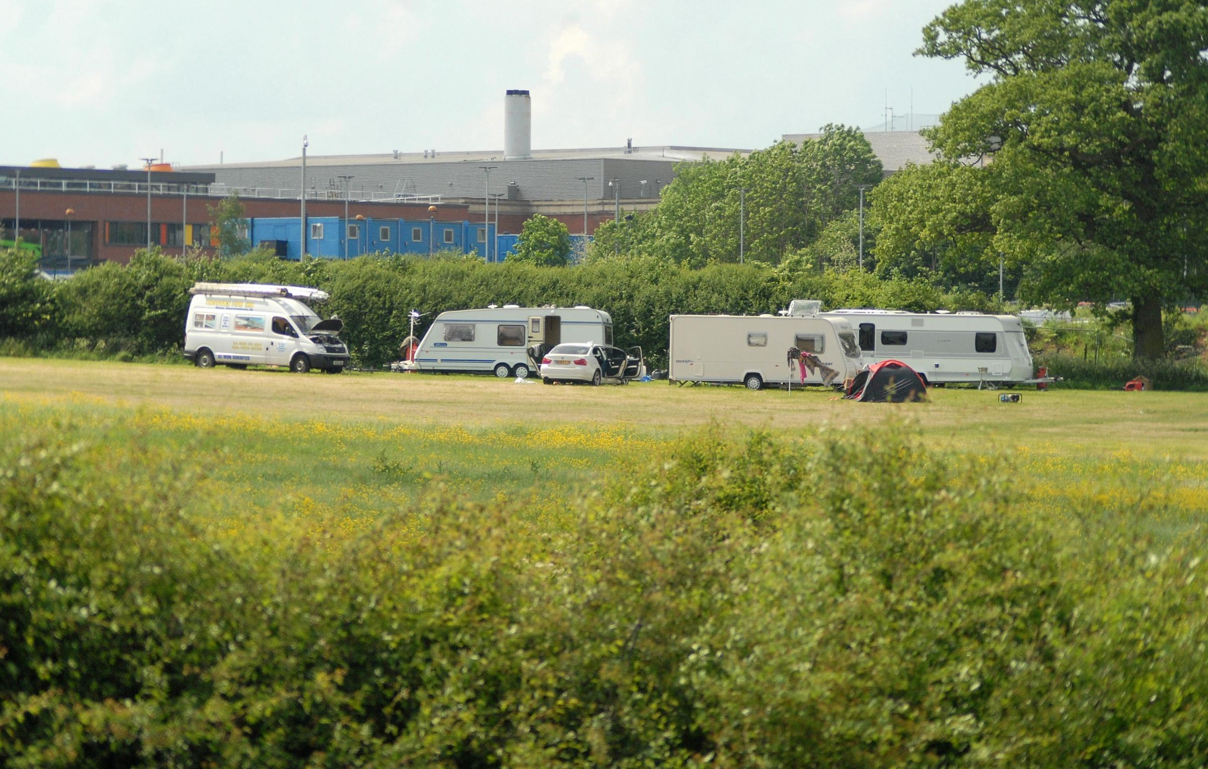 Travellers remain on land in Worcester