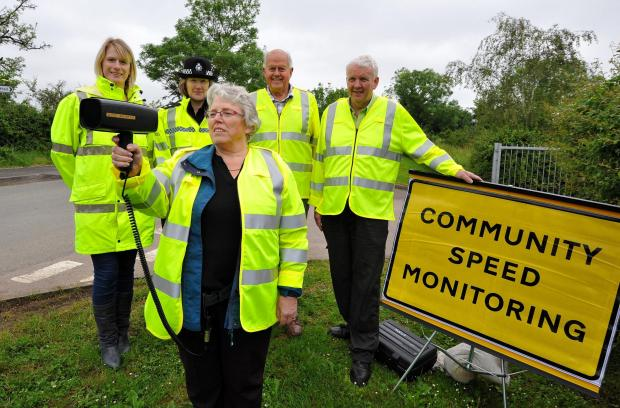 John Anyon        30/5/14         2214611001  Safer Roads Partnership traffic speed monitoring at Crowle on Friday......................Resident, Lee Turner with speed camera, Lee Turner