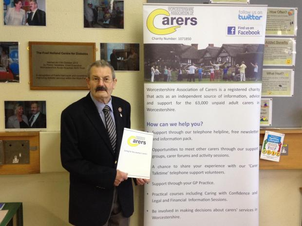 GIVING SUPPORT: Kidderminster carer Fred Holland gives his support to National Carers Week which runs from June 9 to 15.