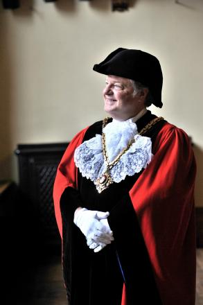 Councillor Alan Amos, the Mayor of Worcester