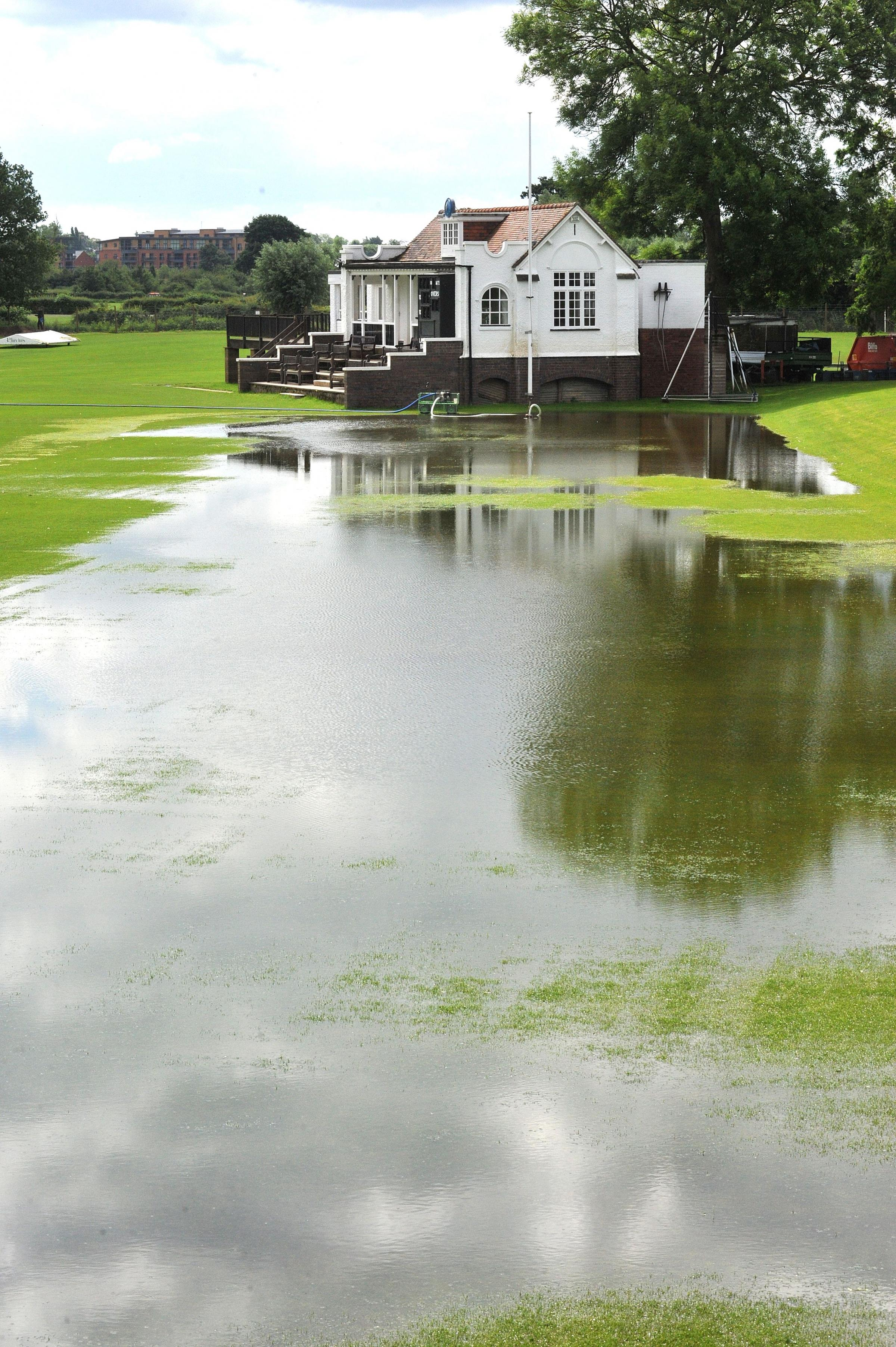 Flooding returns to New Road
