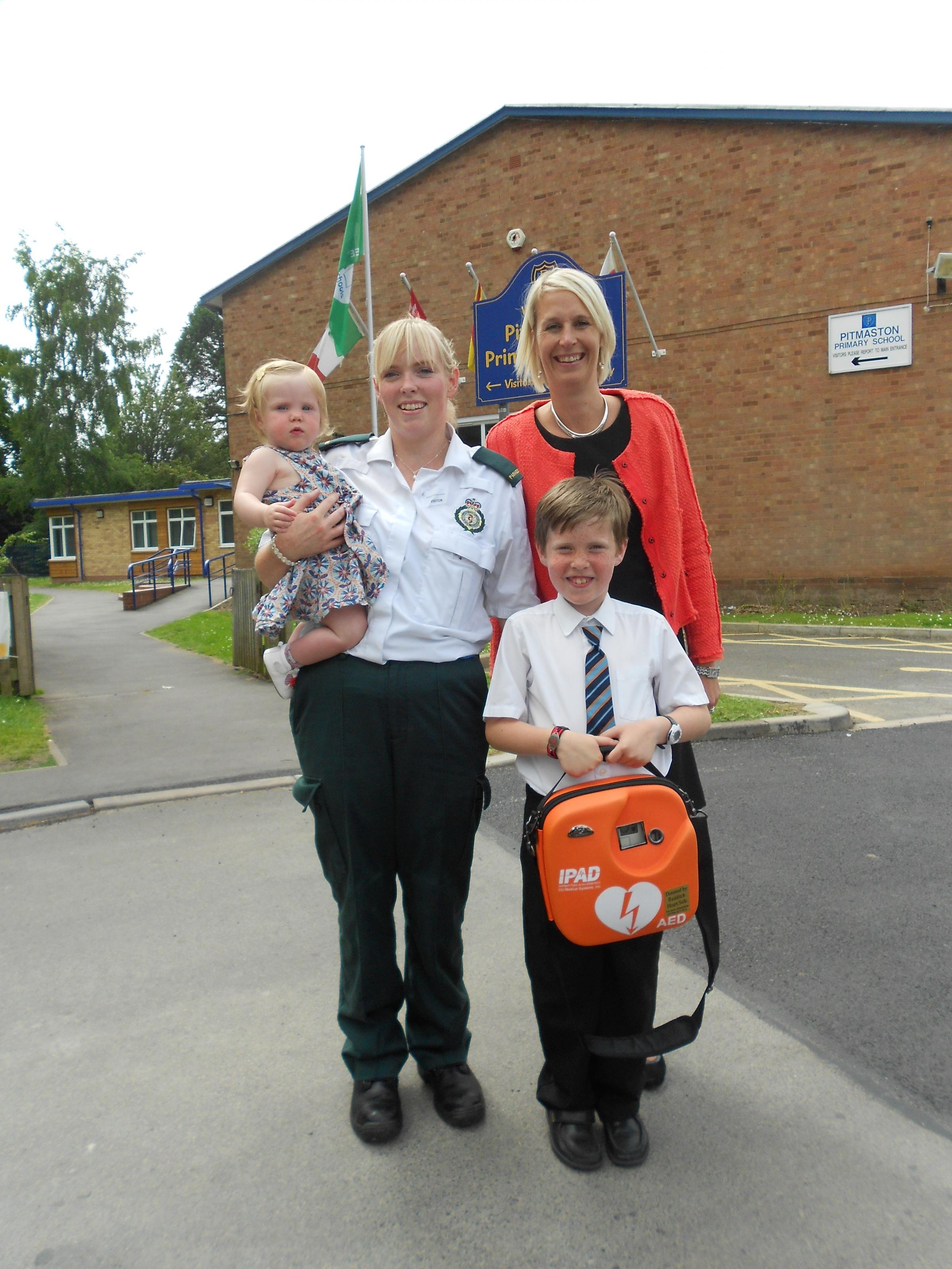 Family of boy with heart condition help fundraise for school defibrillator
