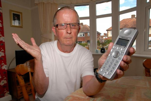 Worcester News: CHARGED: Barry Dunmore says he was charged £45 for a five-minute phone call after using the 118 118 service to find a telephone number.