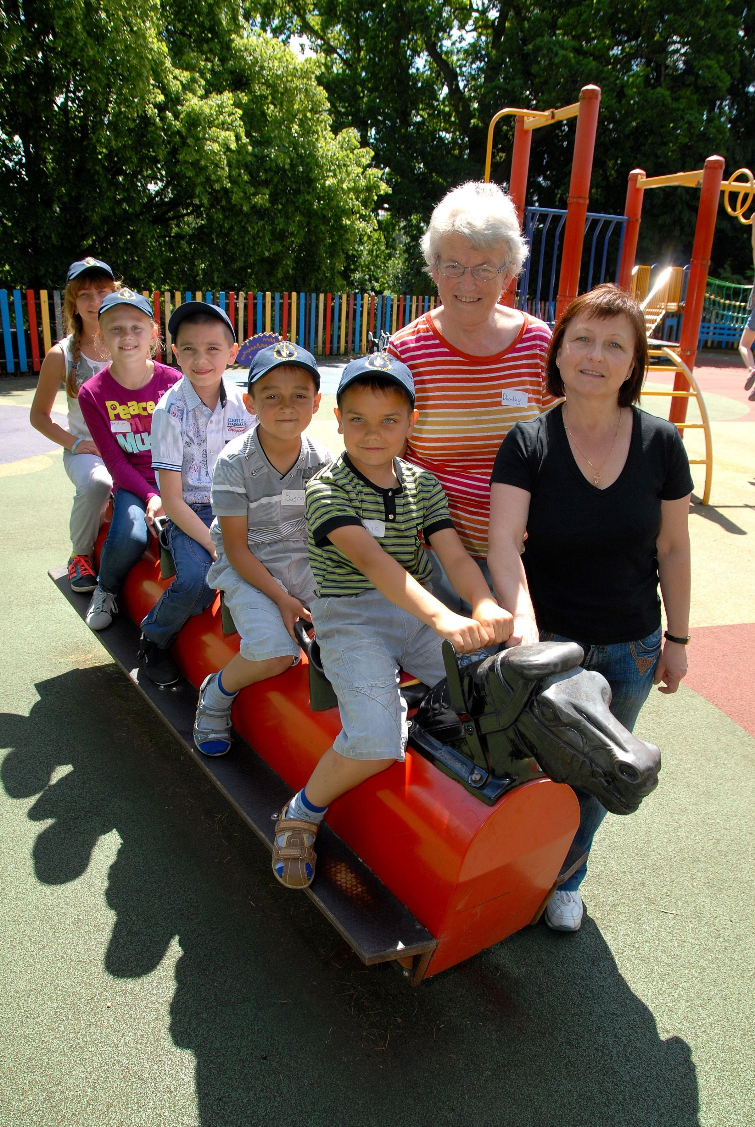 From Belarus to Malvern - children arrive for healthy holiday