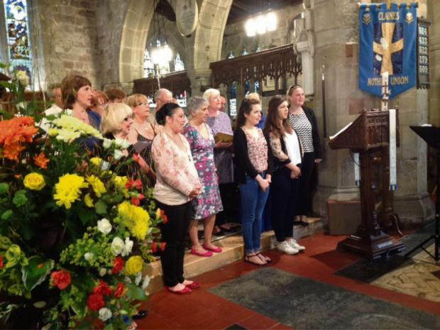 CATS members sang I believe at a service in Claines Church recently (s)