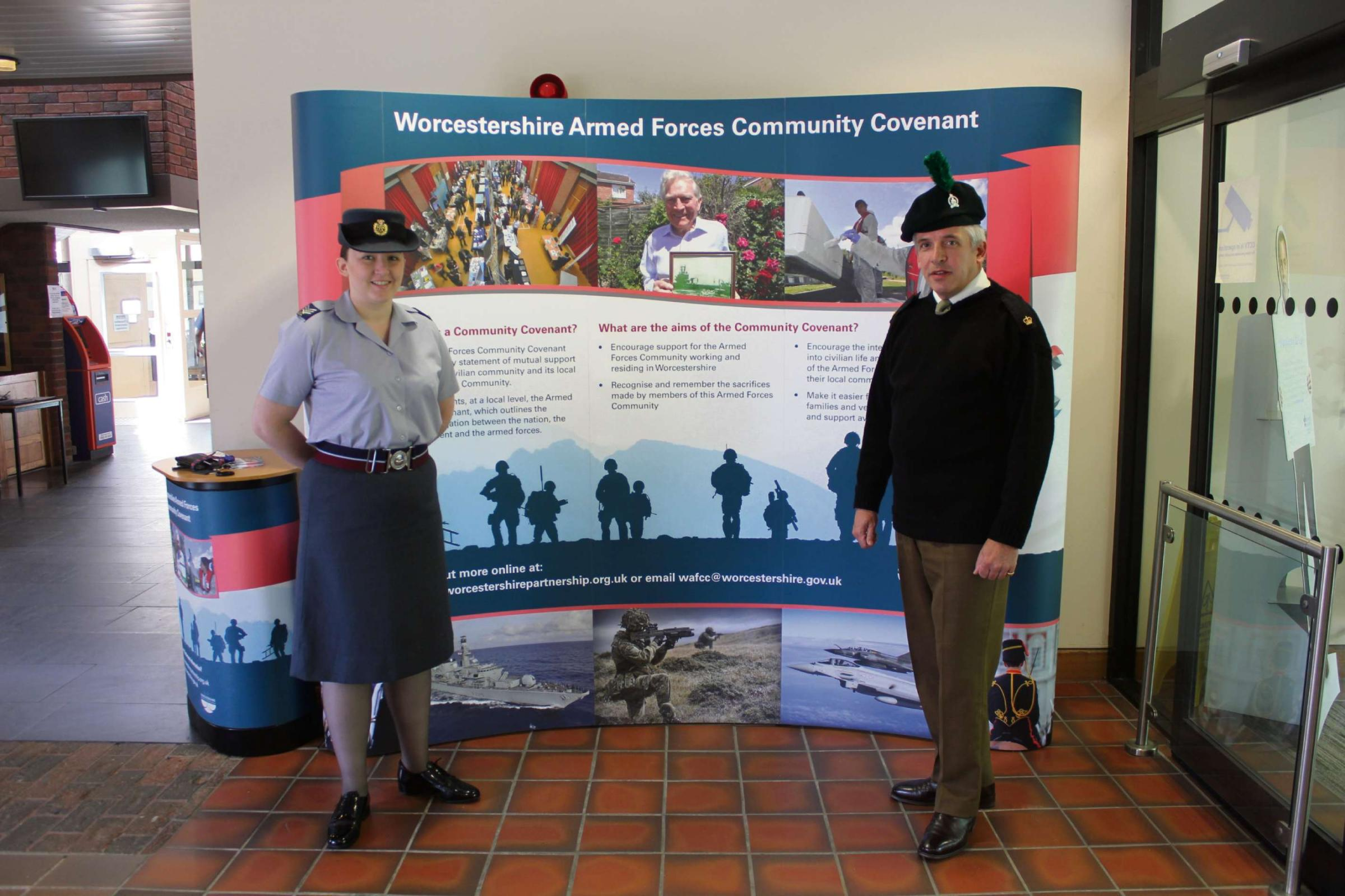 Staff at Worcestershire County Council wear their uniforms with pride during a 'Wear Your Uniform to Work Day' as part of the celebrations for Armed Forced Forces Day on Saturday.