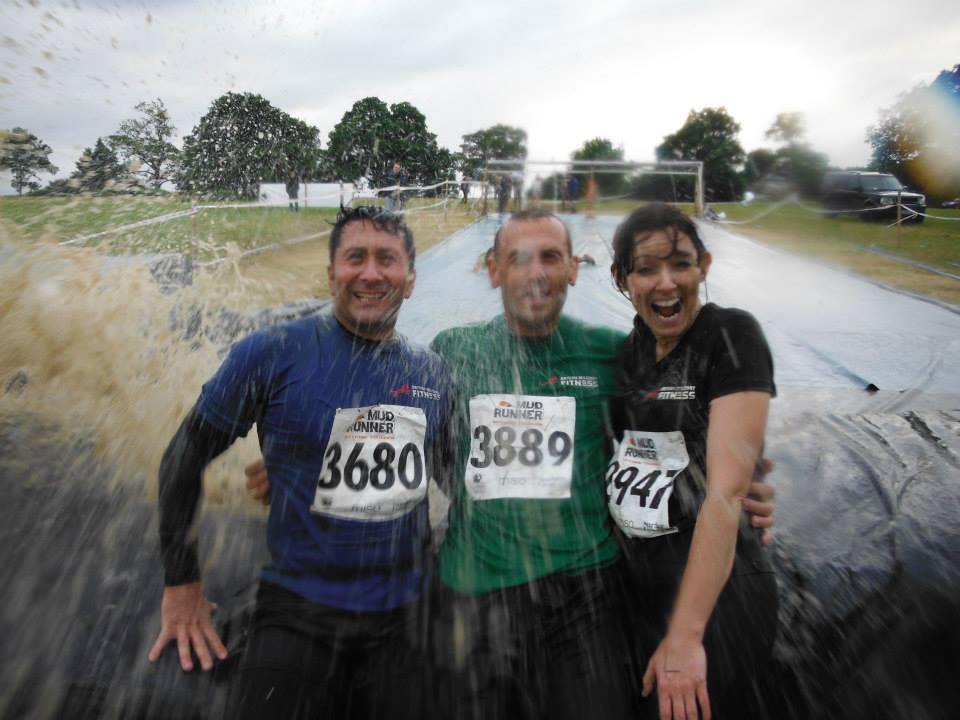 Fitness fanatics get muddy for charity