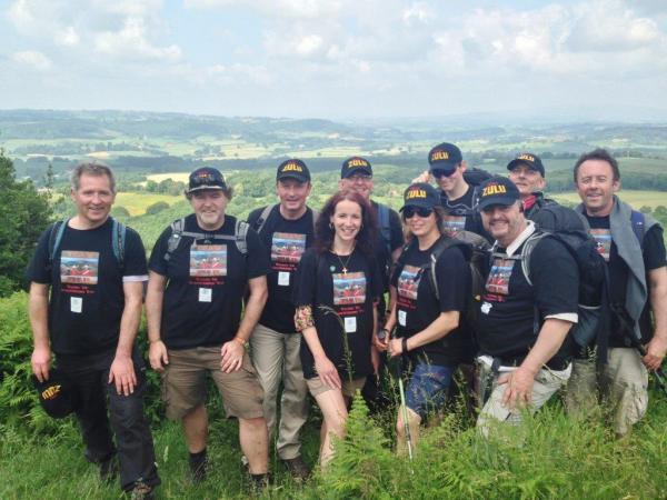 CHARITY WALKERS: Team Zulu members Ian Mootz, Tarquin Shaw-Young, Mark Strain, Kelly Shaw-Young, Justin Goodbody, Suzie Wolff, James Russell, Tim Wolff, Nick Jackson and Kevin Russell.