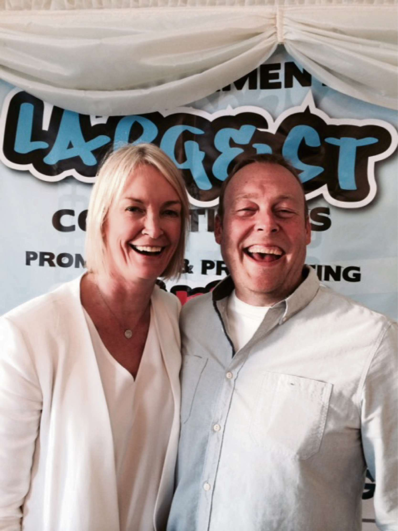 Stourbridge MP Margot James with Warren Evans - owner of Base Studios.