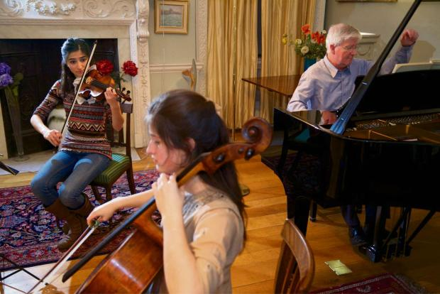 Worcester News: Grier Trio rehearsal at the home of Bob Boas.