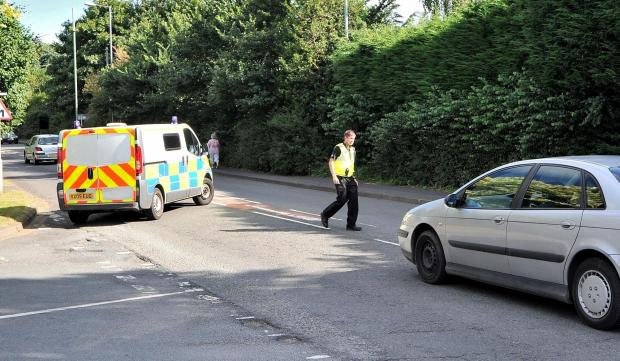 John Anyon      14/7/14       2914649501  Road closed on Hallow Road on Monday after a collision with a motorcycle (8177080)