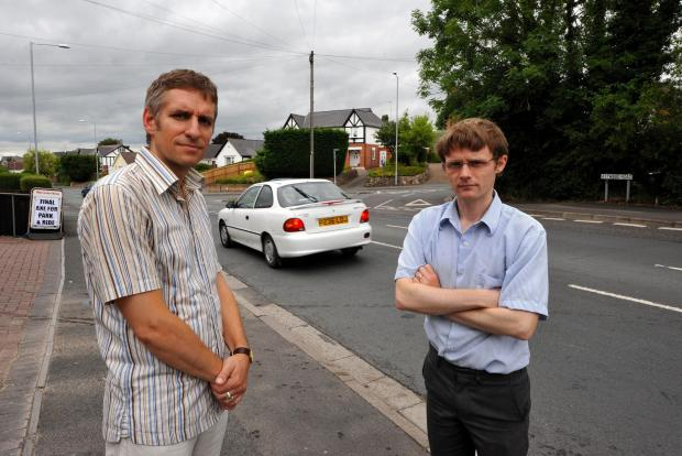 John Anyon         04/07/14            2714641401  Cllr Matt Jenkins, Green Party, Division: Worcester - St Stephen, and Cllr Neil Laurenson, Geen Party, Ward: St. Stephen, at the junction of Astwood Road and Bilford Road. They are concerned about the saf