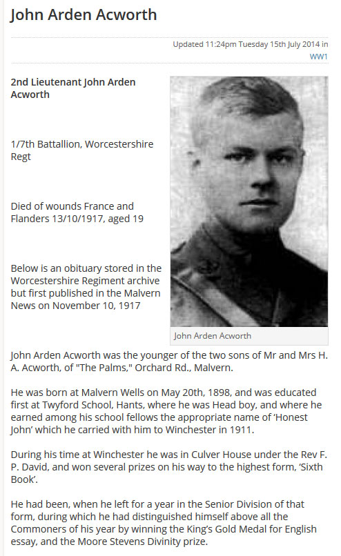 Worcester News: ww1_example