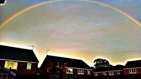 Worcester News: BEAUTIFUL: This rainbow picture was tweeted by Rebecca Sheree