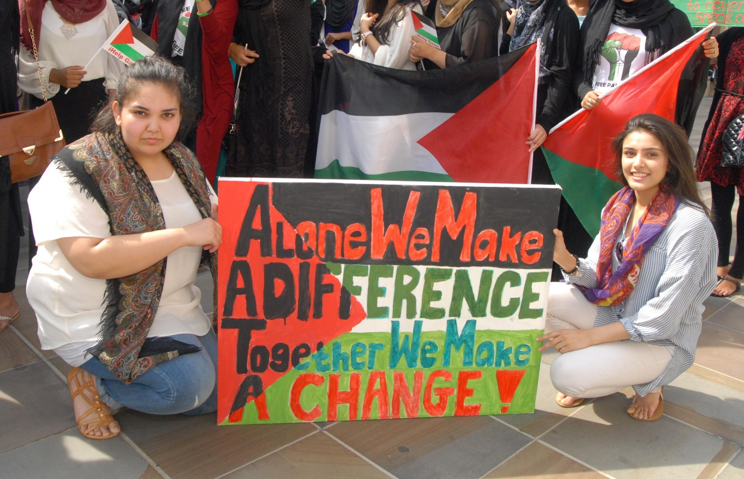 "Worcester protest against ""massacre"" of Palestinians in Gaza"