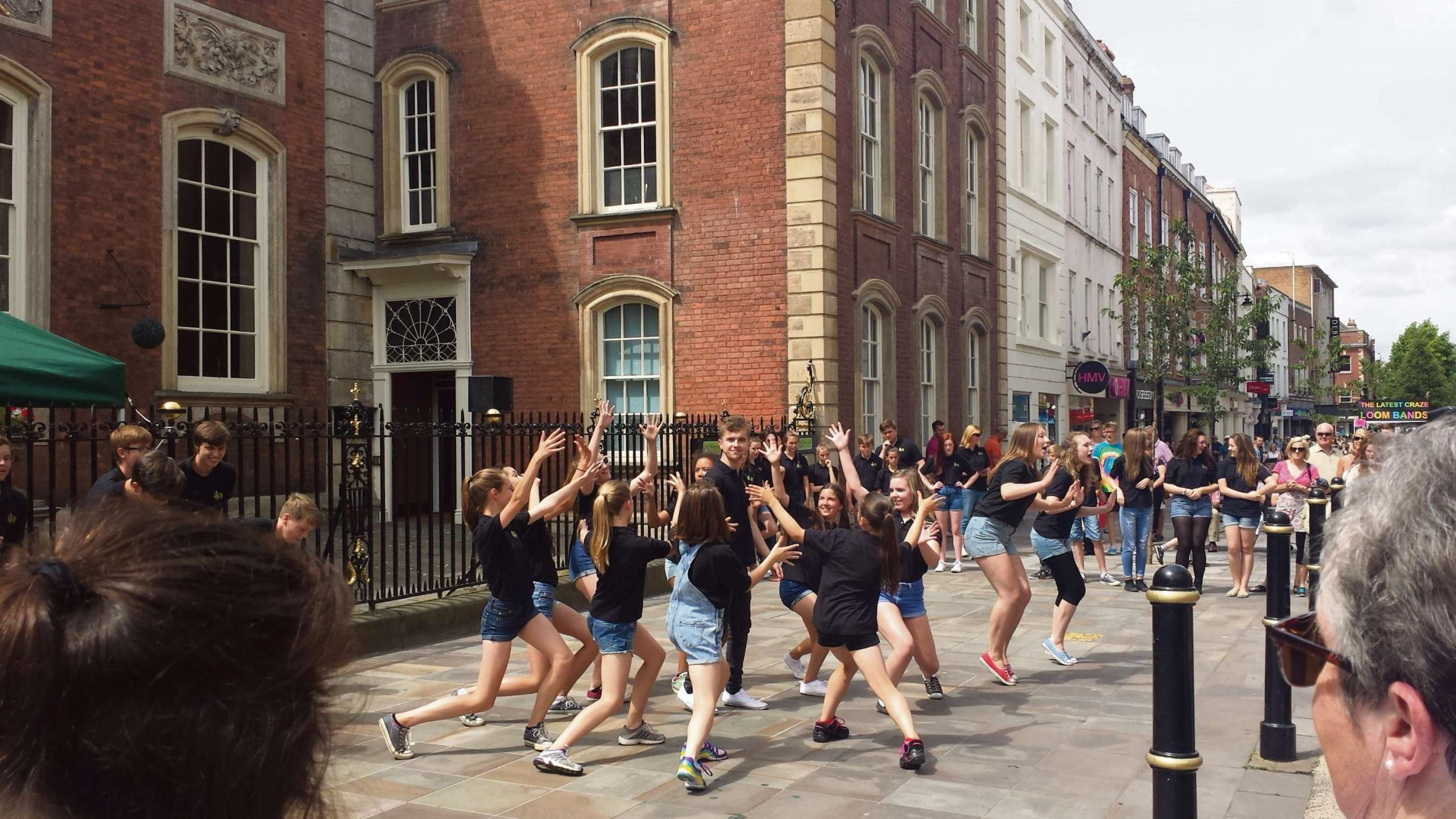 Everybody cut Footloose with special High Street performance