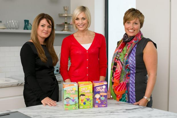 Take the Nappy off week: Jenni Falconer (centre) took part in Potty Training Live run by Judith Hough (left) and Diane Titterton of Dry Like Me (s)