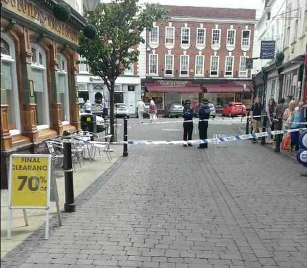 CLOSED: The incident happened shortly after 10am at the Cornmarket end of Mealcheapen Street.