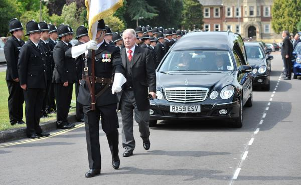PC Duncan Jones is laid to rest as more than 700 attend Worcester funeral