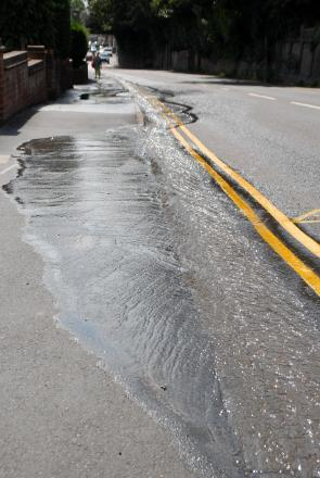 A large amount of water remains on the Hylton Road, in Worcester