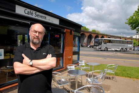 Chris Wise, who runs Cafe Severn on the Quay right by the site