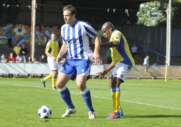 MIKE SYMONS: The striker has been brought back to Worcester City to score much-needed goals for the Blue and Whites.