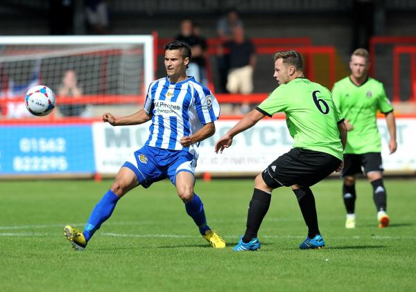 CONNOR GATER: Impressive debut for Worcester City.