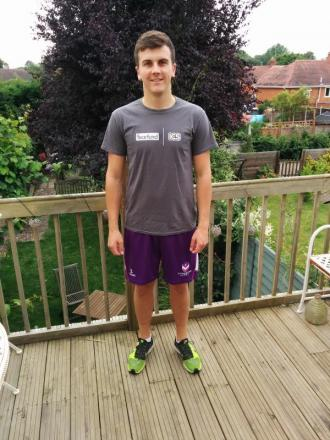 RUNNING FOR CHARITY BID: Sam Carey who is tackling the Worcester City 10K race