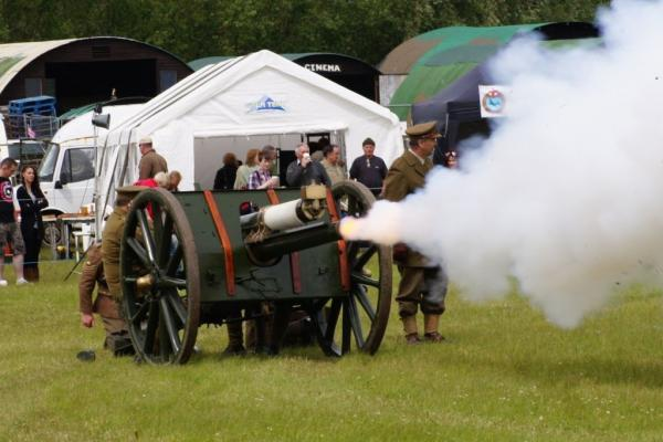 The First World War was an artillery war. See the guns in action on Saturday at a family fun day