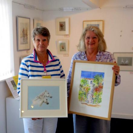 EXHIBITING TOGETHER: Joanna Dixon and Carol Rendell.