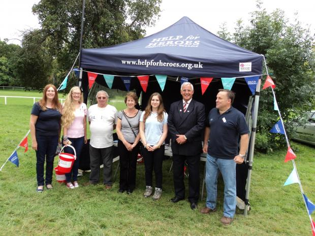 Help for Heroes volunteers at the Worcester Artillery Show.