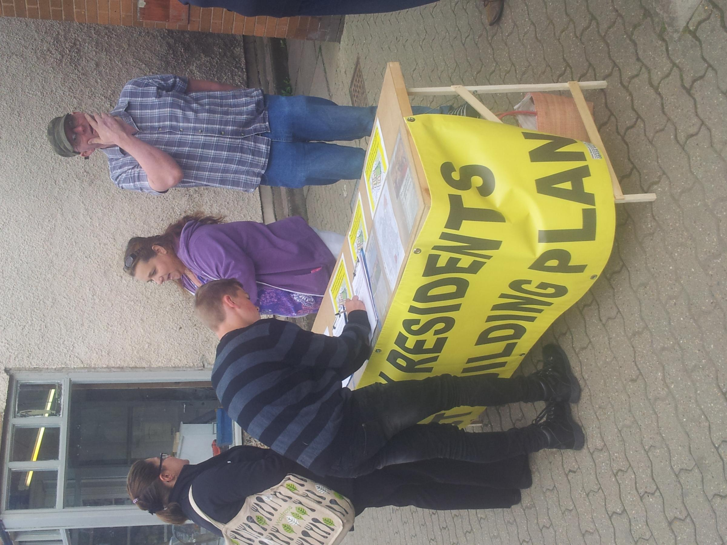 Campaign against Lower Howsell housing takes to the street