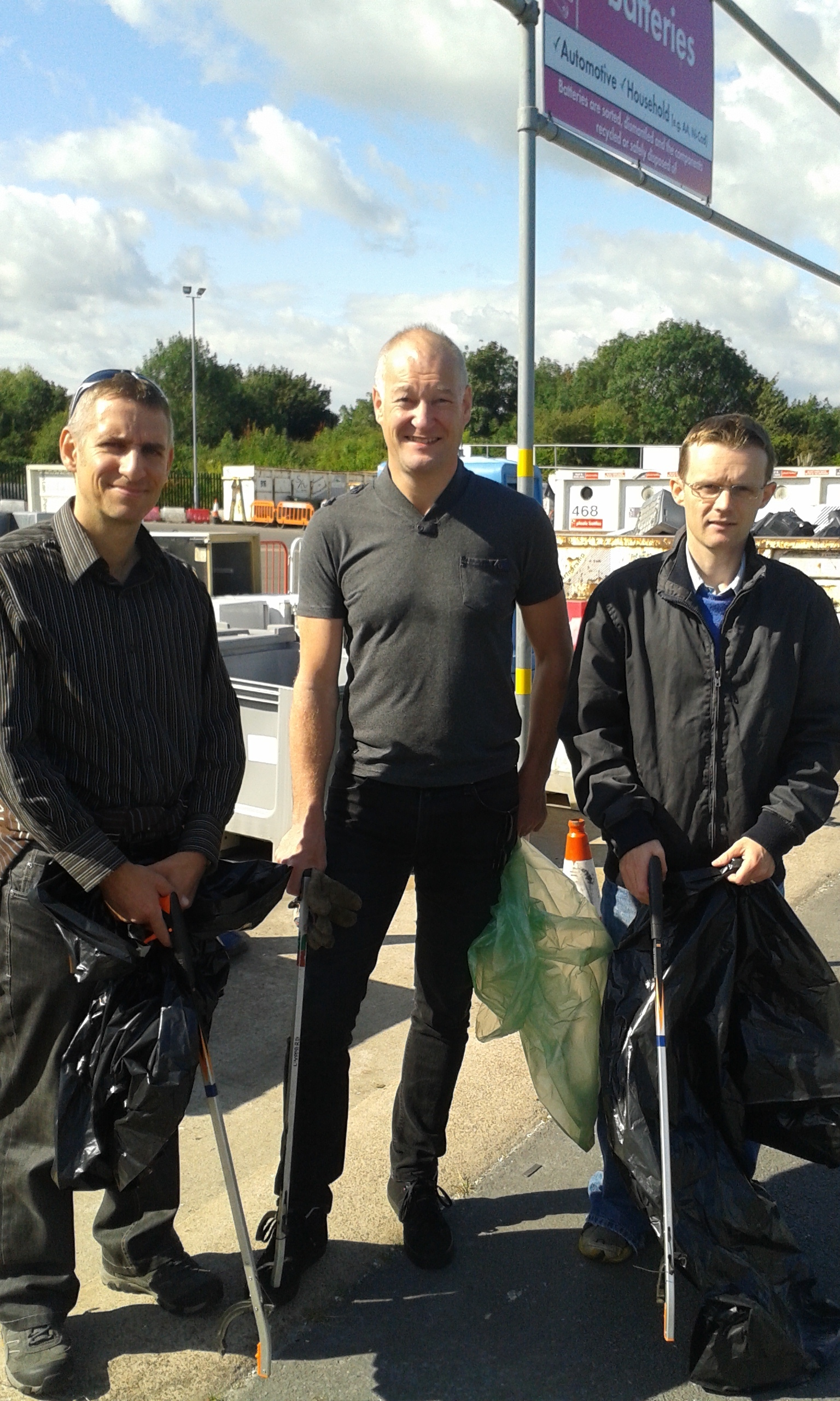 Matthew Jenkins, Neal Murphy and Neil Laurenson picked up 12 bags of litter (s)