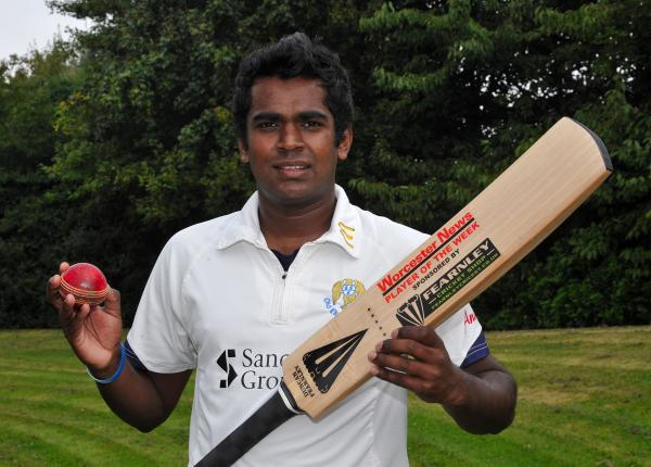 HOT-SHOT: Hemaka Pathiranage of Worcester's Old Elizabethans who wins our cricketer of the week prize.