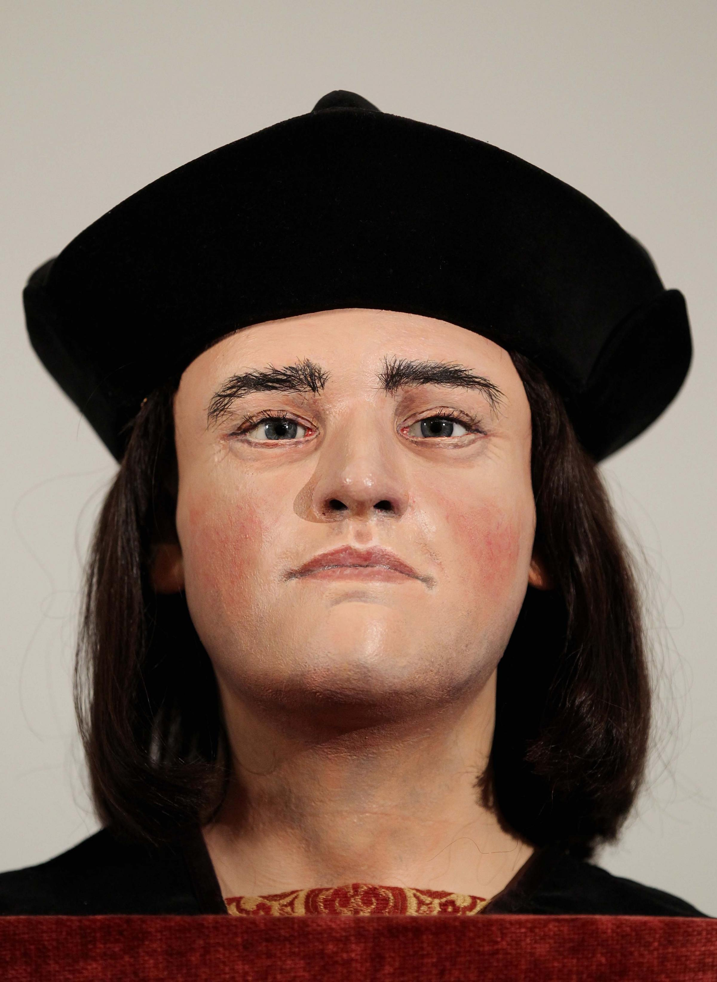 FINAL BATTLE: A model of the face of King Richard III, killed at the Battle of Bosworth in 1485