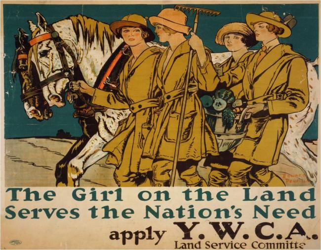 TYPICAL MOMENTO:  YWCA  war recruiting poster