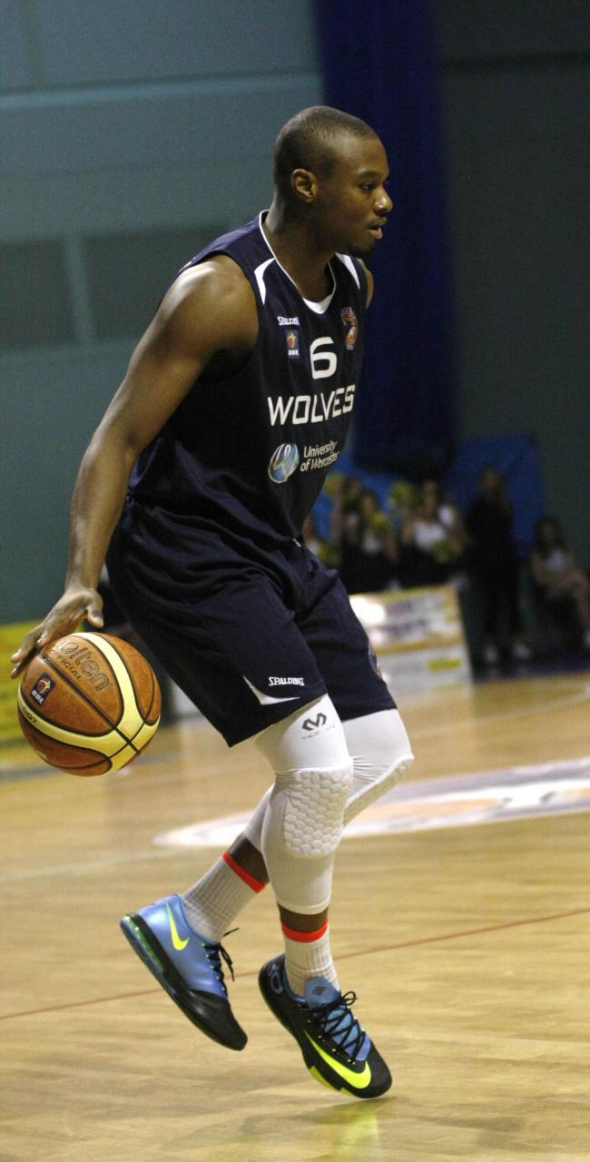 ON THE BALL: Guard Disraeli Lufadeju is starting to show his potential for Worcester Wolves.