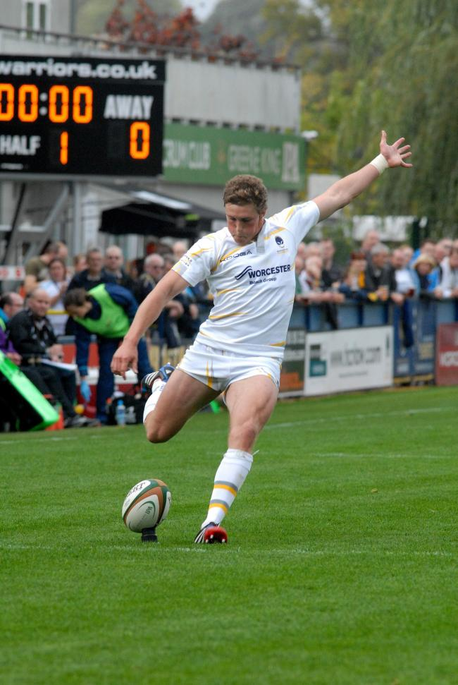 TIFF EDEN: The fly-half impressed in Worcester Warriors' British and Irish Cup win over their Midlands rivals Moseley at Sixways.