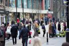 BUSY: Worcester's High Street