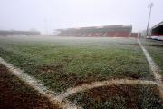 PITCH BATTLE: The Aggborough playing surface has come in for some criticism from both fans and teams.