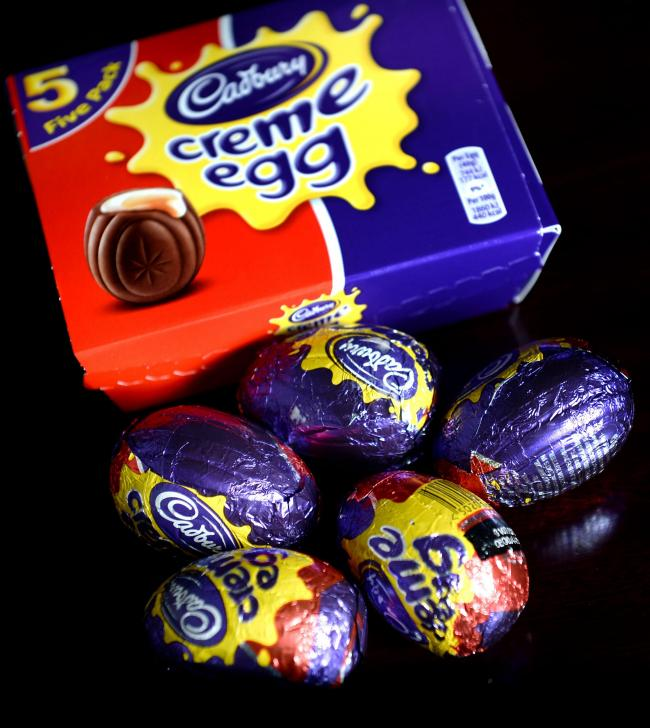 Five Cadbury's Creme Eggs, London. PRESS ASSOCIATION Photo. Picture date: Monday January 12, 2015. See PA story CONSUMER Egg. Photo credit should read: Anthony Devlin/PA Wire (16025533)