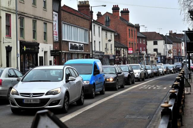 BUSY: Congestion in The Tything, Worcester