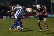 Daniel Nti works his way through the Moors defence. Pictures: NEIL PUGH.