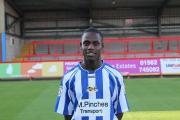 TRISTIAN DUNKLEY: Scored one of the goals when Worcester City completed a 2-0 success at Colwyn Bay in February.